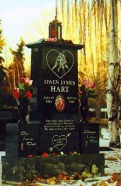 Owen Hart Funeral Vince Martha hart launched a
