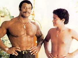 Rocky Johnson & a young Rock