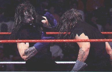 The Undertaker's SummerSlam return at the side of Paul Bearer was equally memorable as he symbolically laid to rest the 'evil' Undertaker.