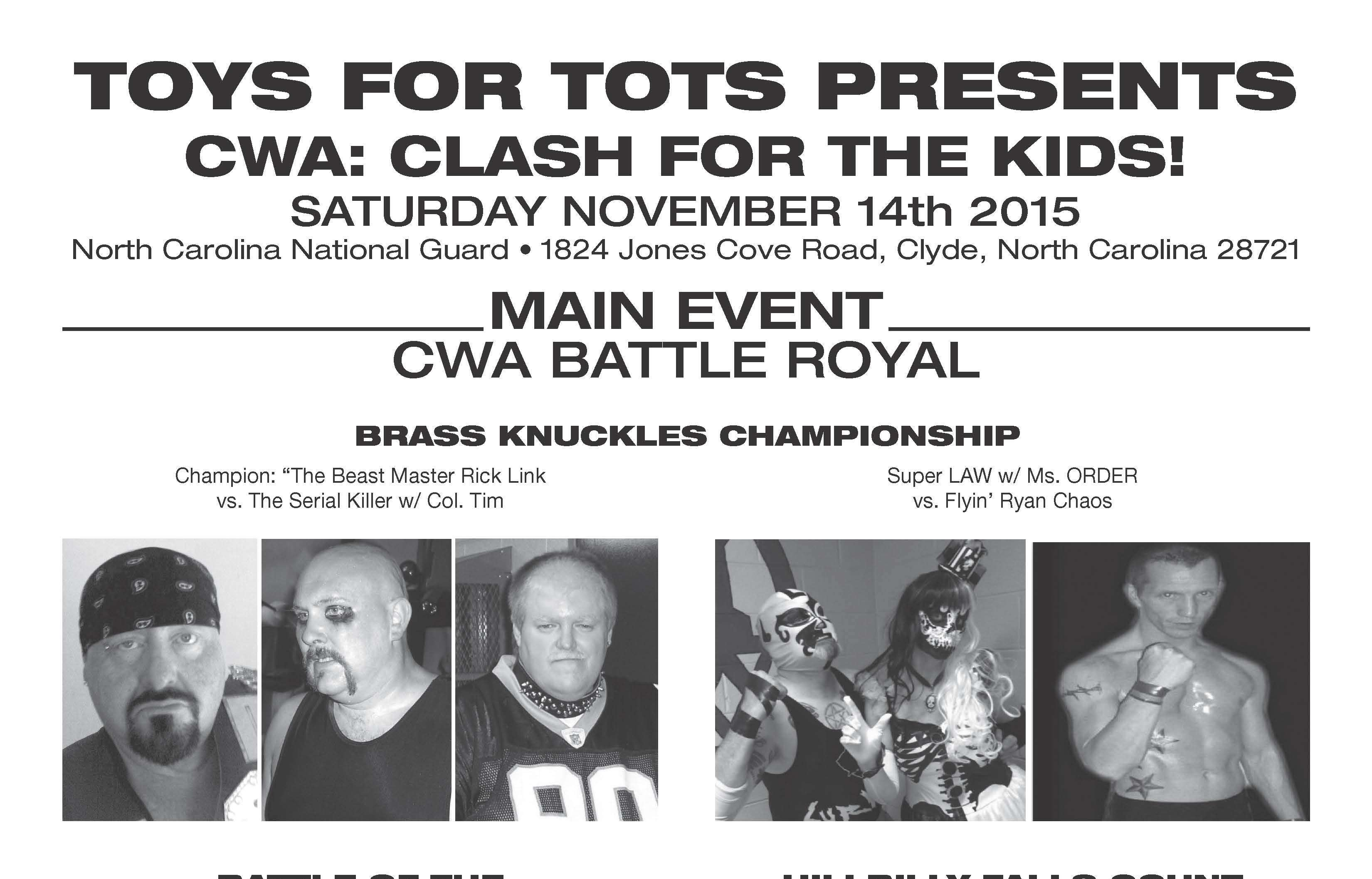 """Toys For Tots Promotional Posters : """"toys for tots cwa press release online world of wrestling"""