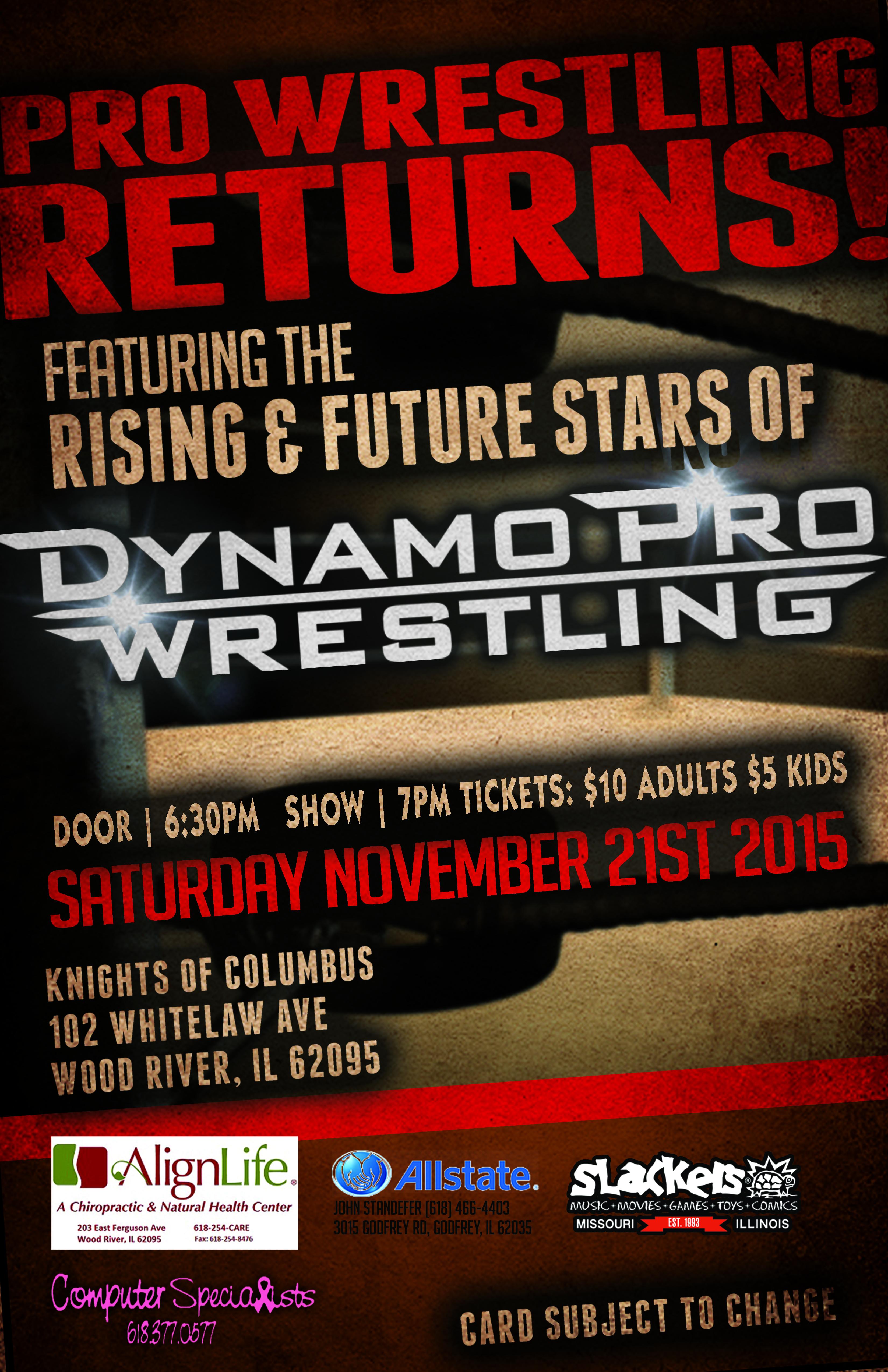Dynamo Pro Wrestling - 112115